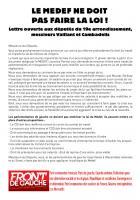 Le MEDEF ne doit pas faire la loi : lettre ouverte aux députés du 19ème arrondissement