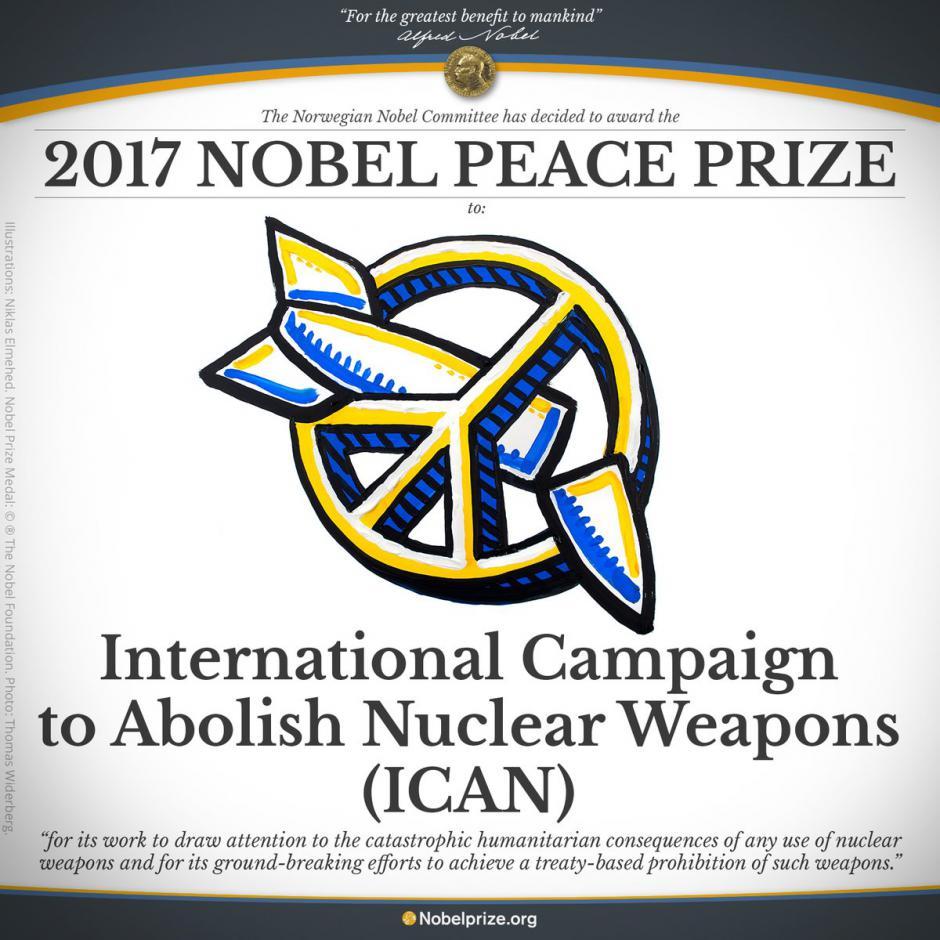 Prix Nobel de la paix 2017 : une formidable récompense pour les militants de la paix et du désarmement nucléaire (Pierre Laurent)