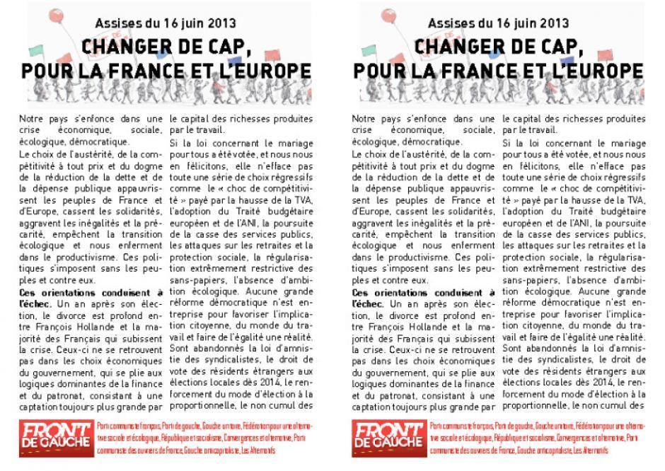 Changer de cap pour changer la France et l'Europe